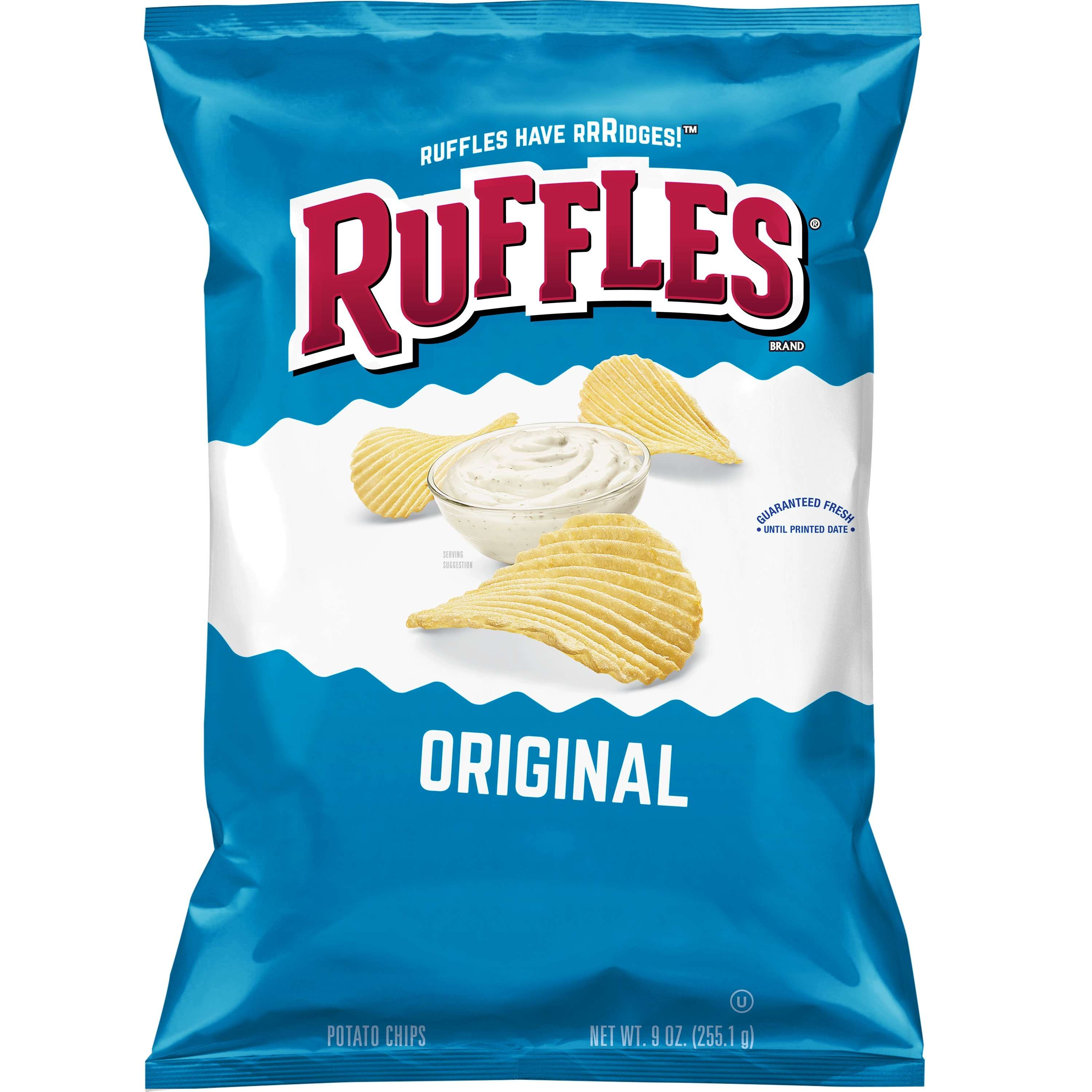 Ruffles Original Potato Chips, 9 oz. Bag