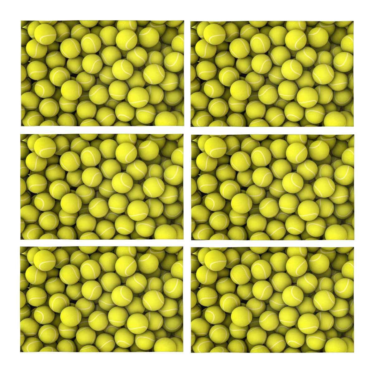 Mkhert Funny Sports Decor Tennis Balls Placemats Table