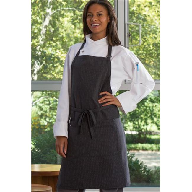 Vtex 3018-3300 Adjustable Butcher Apron White Pinstripe