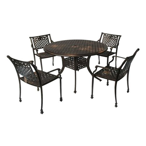 Best Selling Home Decor 231900 Sebastian Cast Aluminum Outdoor Dining Set Best Selling Home Decor Sebastian Cast Aluminum Outdoor Dining Set