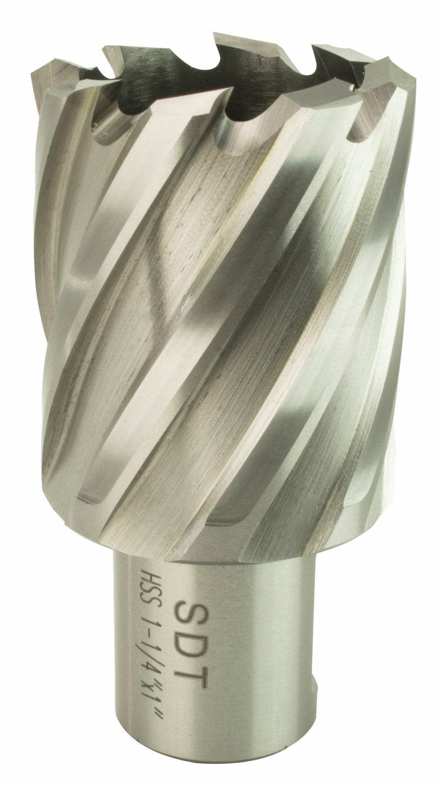 "1-7//8/"" X 2/"" High Speed Steel Annular Cutter With 3//4/"" Weldon Shank"
