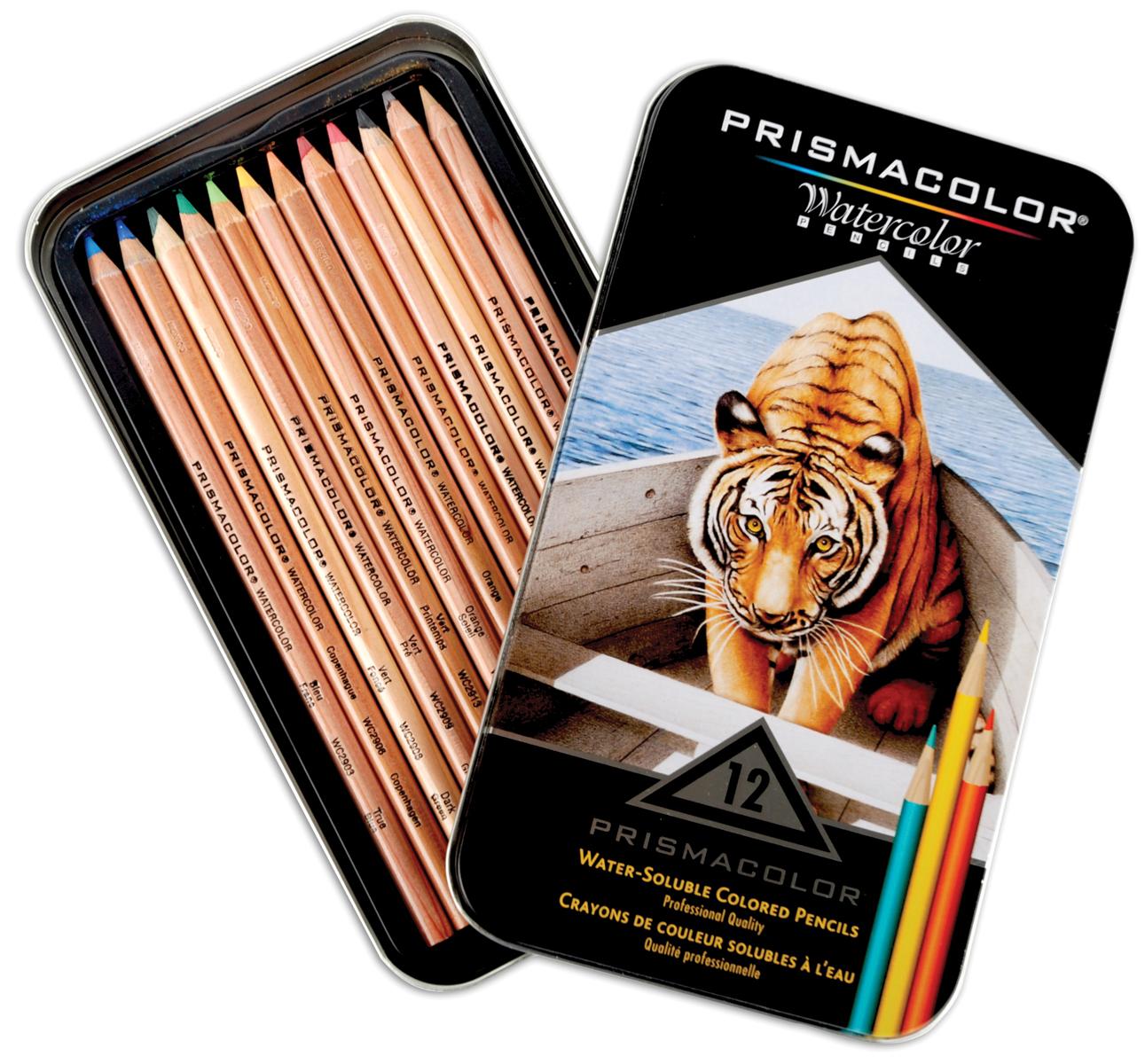 Prismacolor Watercolor Pencils: Assorted Colors, 12 pack