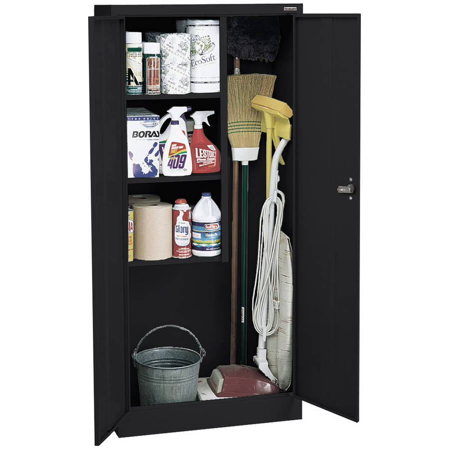 "Value Line Series 30""W x 66""H x 15""D Janitor Supply Cabinet, Black"