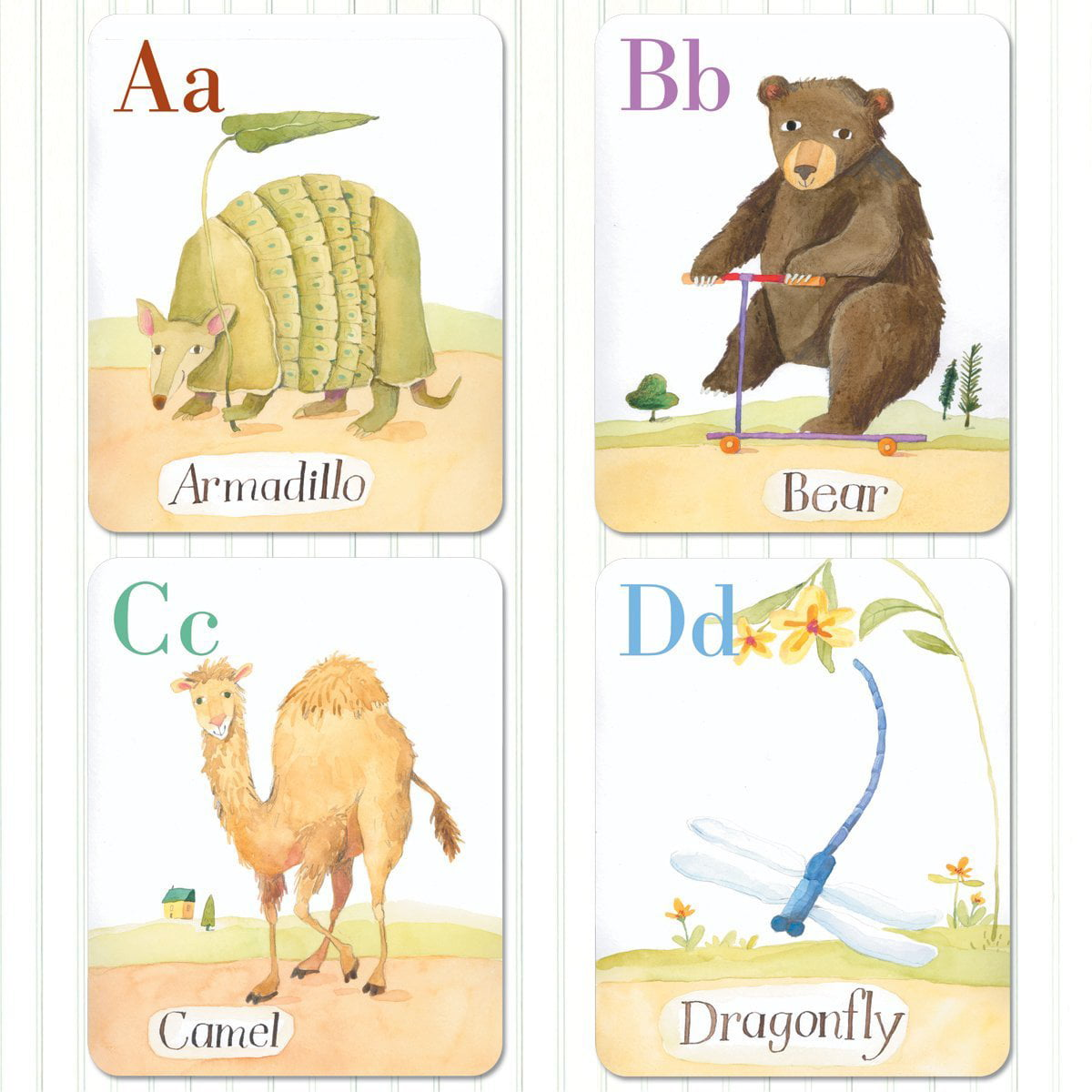 Alphabet Cards: Animal Parade Wall Art - Walmart.com