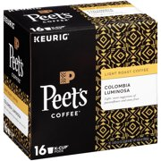 Peet's Coffee Colombia Luminosa K-Cup Coffee Pods, Light Roast, 16 Count