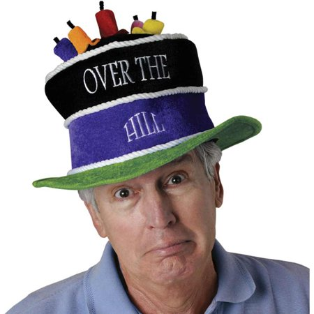 Plush Over-The-Hill Birthday Cake Hat Party Accessory (1 count) (1/Pkg)