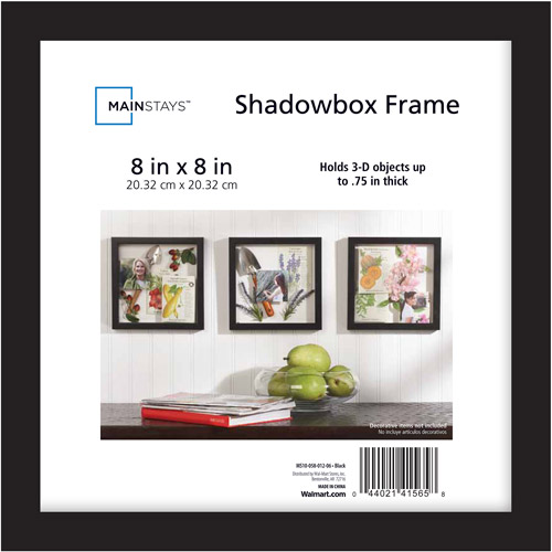 Mainstays 8x8 Shadowbox Frame, Black by Generic