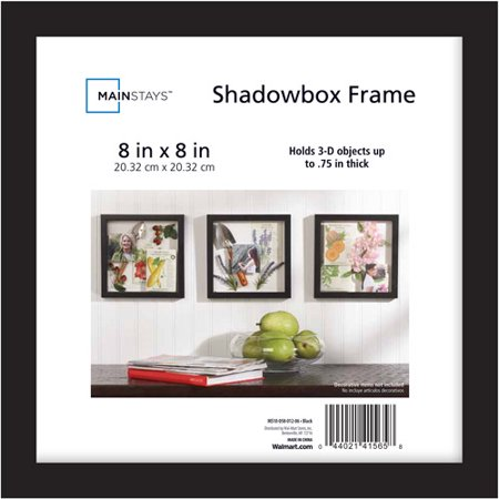 mainstays 8x8 shadowbox frame black