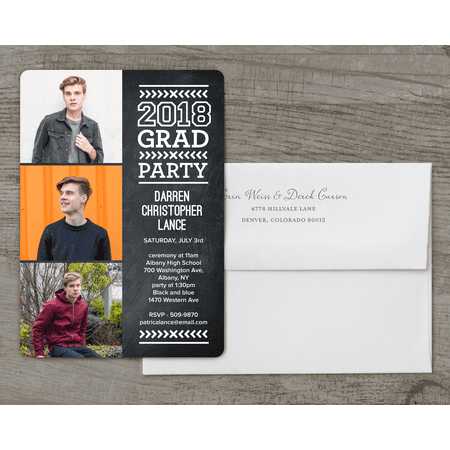 Modern Type Deluxe Graduation Invitation](Train Invitations)