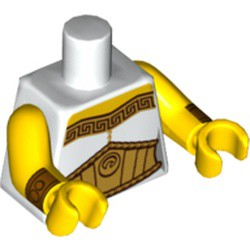 LEGO Female Toga with Gold Trim and Large Belt Loose Torso
