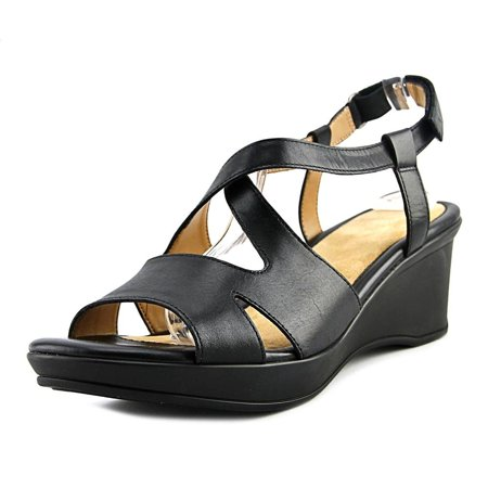 2f585169785a Naturalizer - Womens Villette Leather Open Toe Casual Slingback Sandals -  Walmart.com