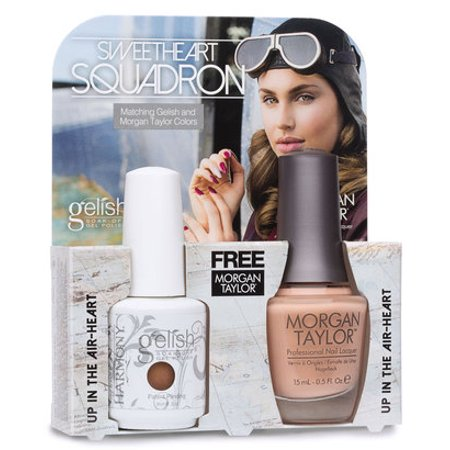 Harmony Gelish + Morgan Taylor Sweetheart Squadron Collection - Up In The Air-Heart + Free Nail File $3 Value (Morgan File)