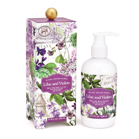 Michel Design Works Hand & Body Lotion 8 Oz. - Lilac & Violets (Lilac Hand Lotion)