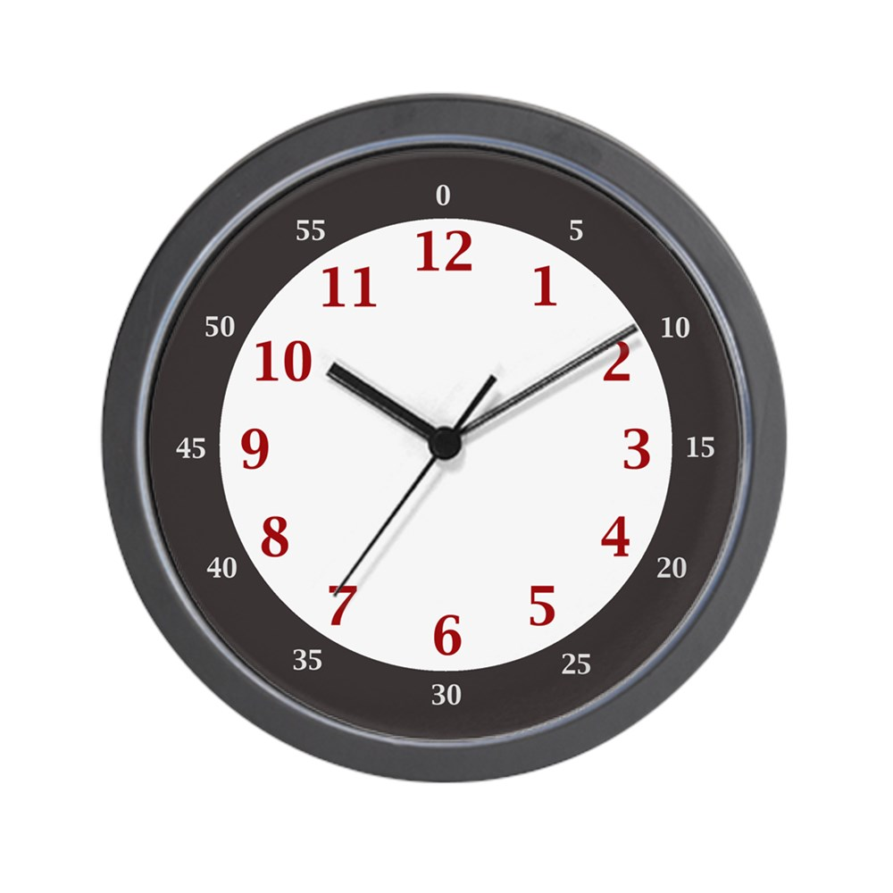 """CafePress BIG NUMBERS EASY LEARN Hours &Amp; Minutes Clock Unique Decorative 10"""" Wall... by"""
