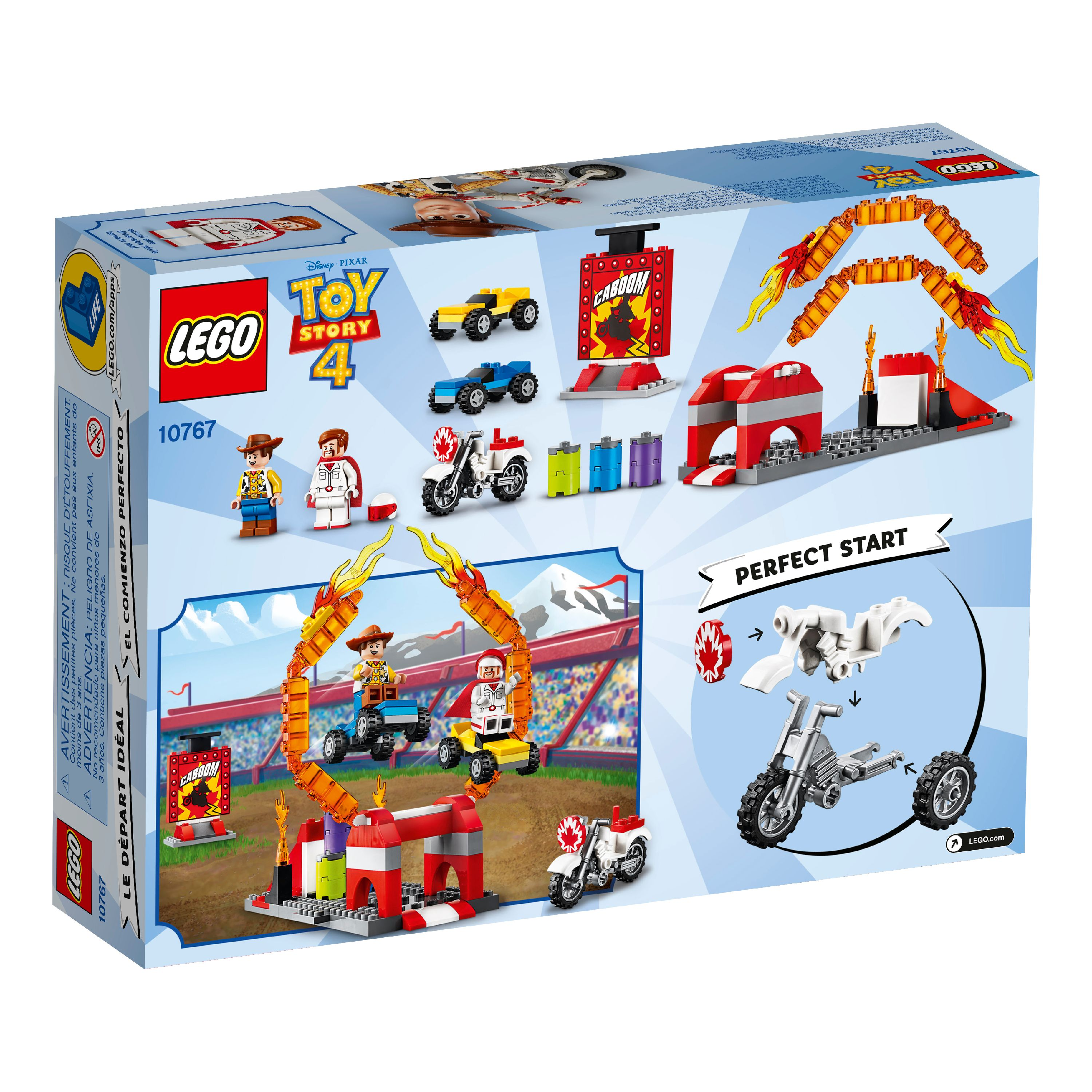 120 Pieces LEGO Disney Pixar/'s Toy Story Duke Caboom/'s Stunt Show 10767 Building Kit