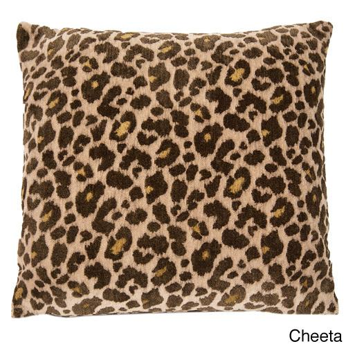 Michael Amini Wildlife Decorative  22-inch Accent Pillow Cheeta