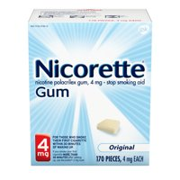 Nicorette Nicotine Gum to Stop Smoking, 4mg, Original Unflavored - 170 Count