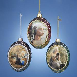 1 Set 3 Assorted Daenerys Dragon Egg Glass Game of Thrones Ornaments