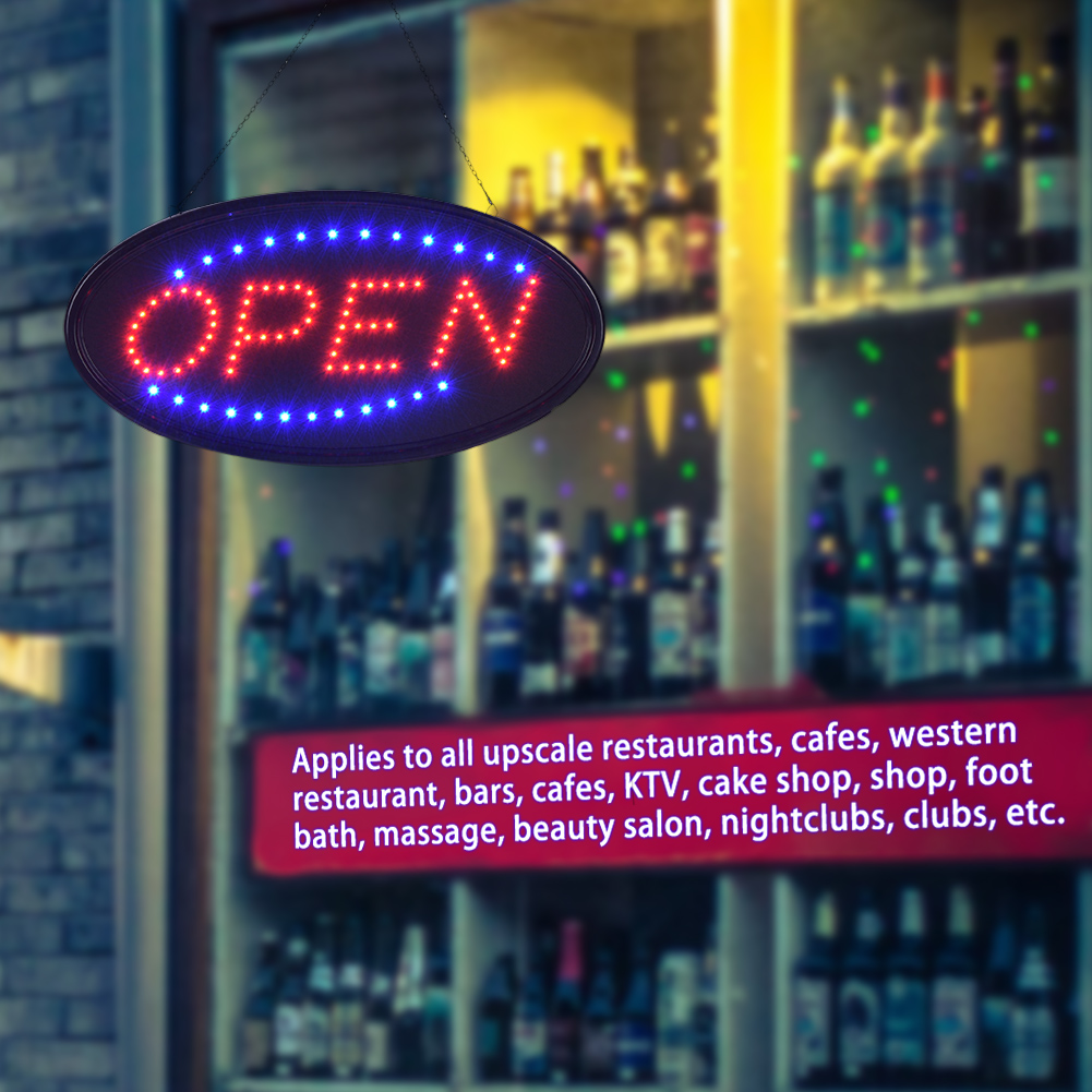 Bar Sign Light,Zerone Super Bright Led Bar Sign Board Pub Club Window Display Light Lamp for Shop Fronts/Windows
