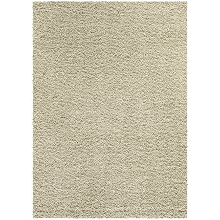 Mainstays Manchester Solid Plush Cut Pile Shag Area Rug or Runner Collection ()
