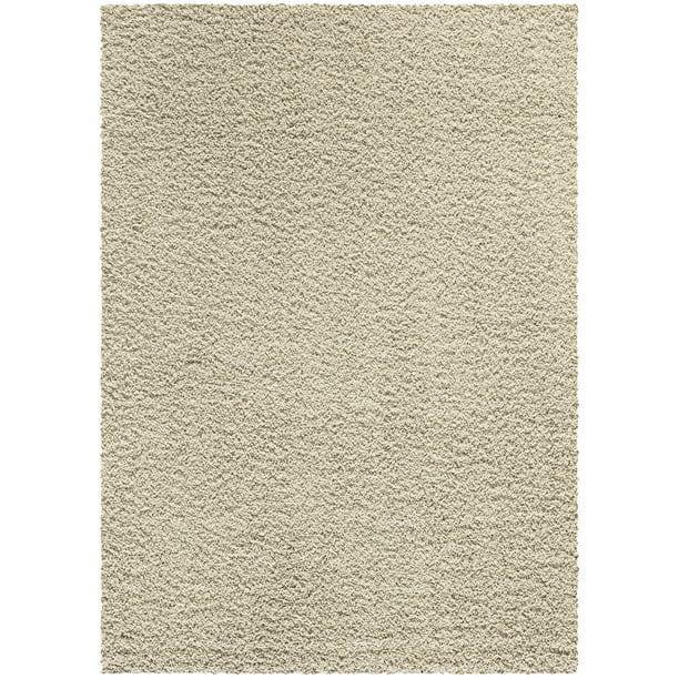 Solid Plush Cut Pile Shag Area Rug