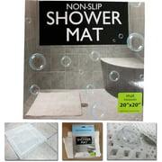 "Non Slip Shower Mat Rug Aqua Carpet Bath Water Bathroom Safe Protection 20""x20"""
