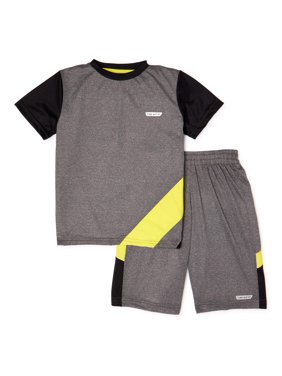 Hind Boys Short Sleeve T-Shirt and Shorts 2-Piece Active Set, Sizes 4-7