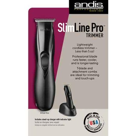 andis slimline pro cordless rechargeable trimmer 4 guide comb s 32655 49. Black Bedroom Furniture Sets. Home Design Ideas