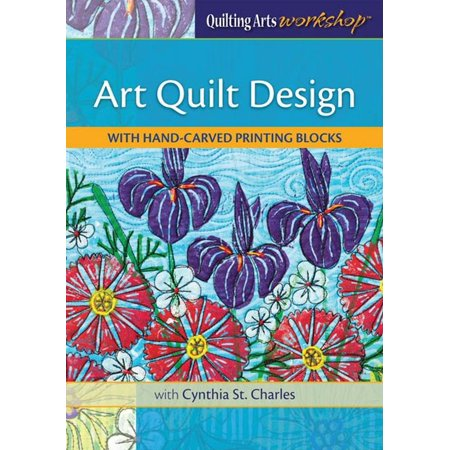 Art Quilt Design With Hand Carved Printing Blocks