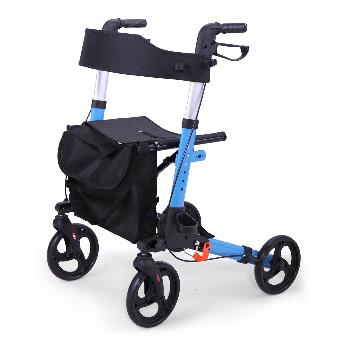 Jaxpety Medical Rollator Walker Foldable Stable Compact