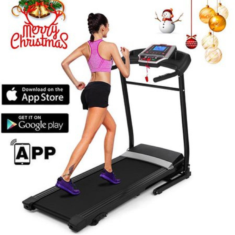 Folding Electric Treadmill Motorized Power Adjustable Incline Machine Running Machine With P01-P12 Programs And USB/MP3 HFON