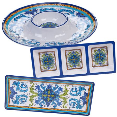 Charlton Home Filion 3 Piece Melamine Divided Serving Dish Set