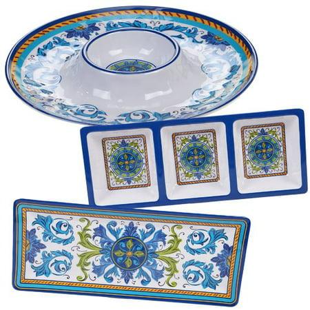 Charlton Home Filion 3 Piece Melamine Divided Serving Dish Set ()