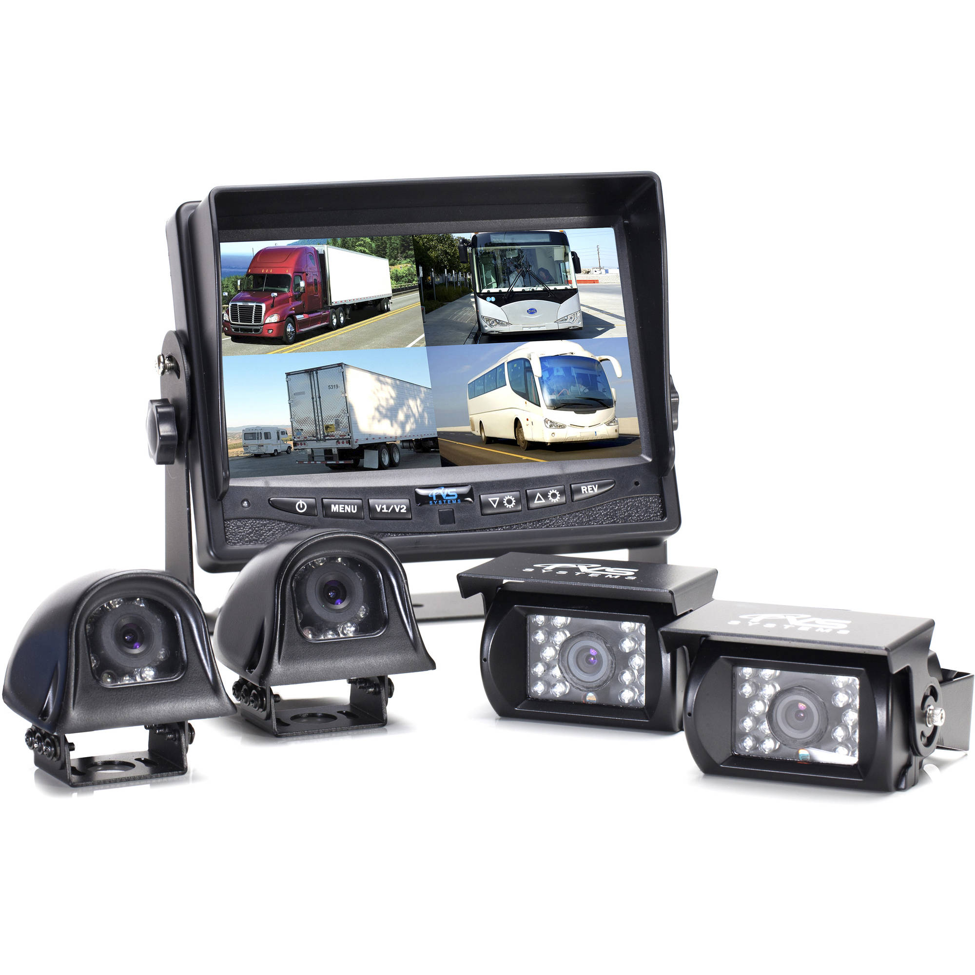 Rear View Camera System, 4 Camera Setup