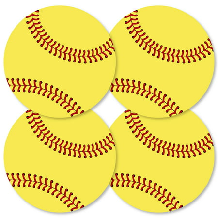 Grand Slam - Fastpitch Softball - Decorations DIY Baby Shower or Birthday Party Essentials - Set of