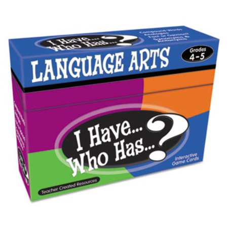 Teacher Created Resources I Have  Who Has Language Arts Game Grade 4 5   Educational  7831 40