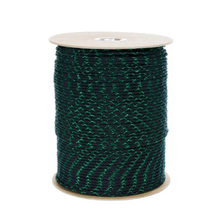 Paracord Planet Metallic 550 Paracord with Sparkle Tracers - Lengths of 10', 25', 50', and 100' - Available in Red, Gold, Green, Blue, and Silver - Add Some Shine to Your Next Paracord Project