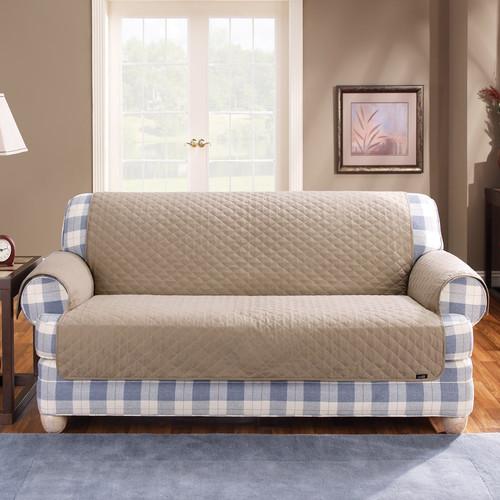 Sure Fit Cotton Duck T Cushion Sofa Slipcover Walmart Com