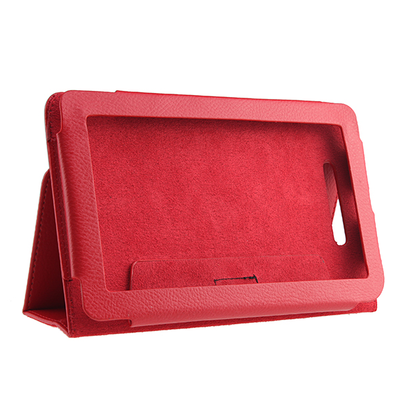 Image Leather Cover Case Stand for Nook Tablet/ Nook Color Red