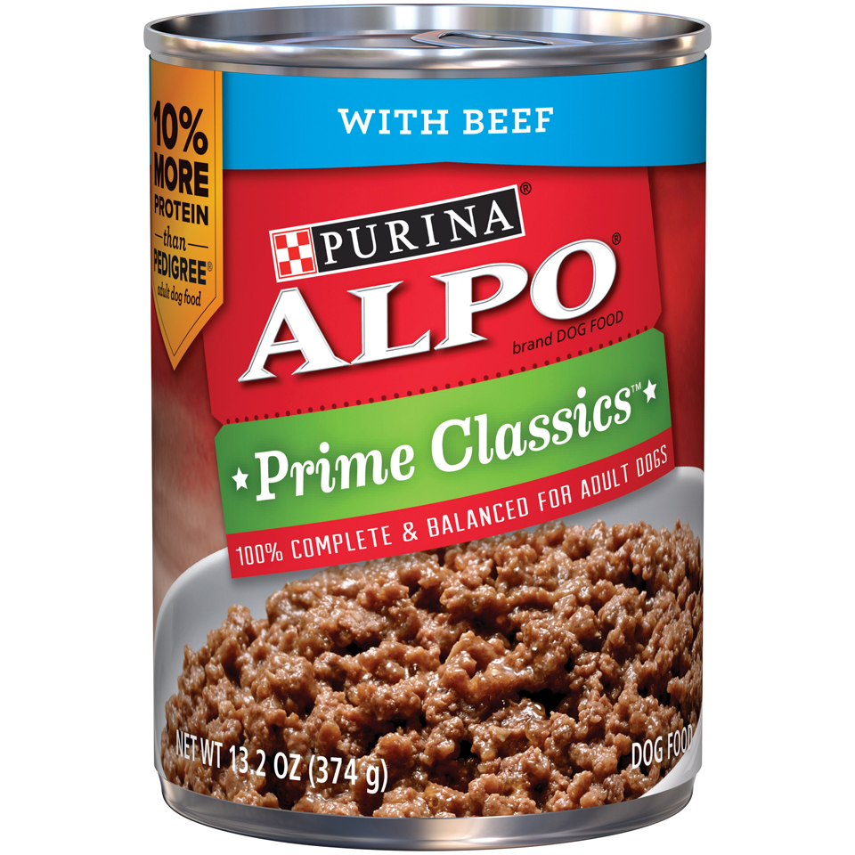 Purina ALPO Prime Classics With Beef Dog Food Case of 12- 13.2 oz. Cans