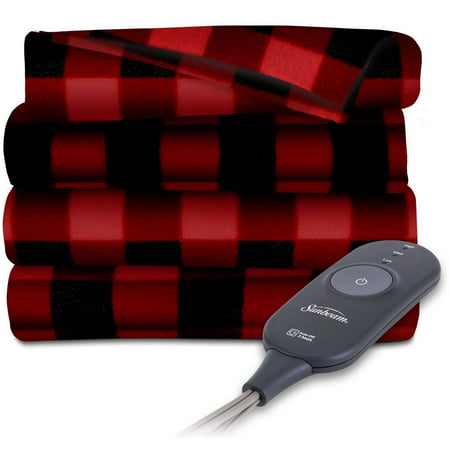 Sunbeam Electric Heated Fleece Throw Blanket, 60-Inch by - Beautyrest Electric Blanket