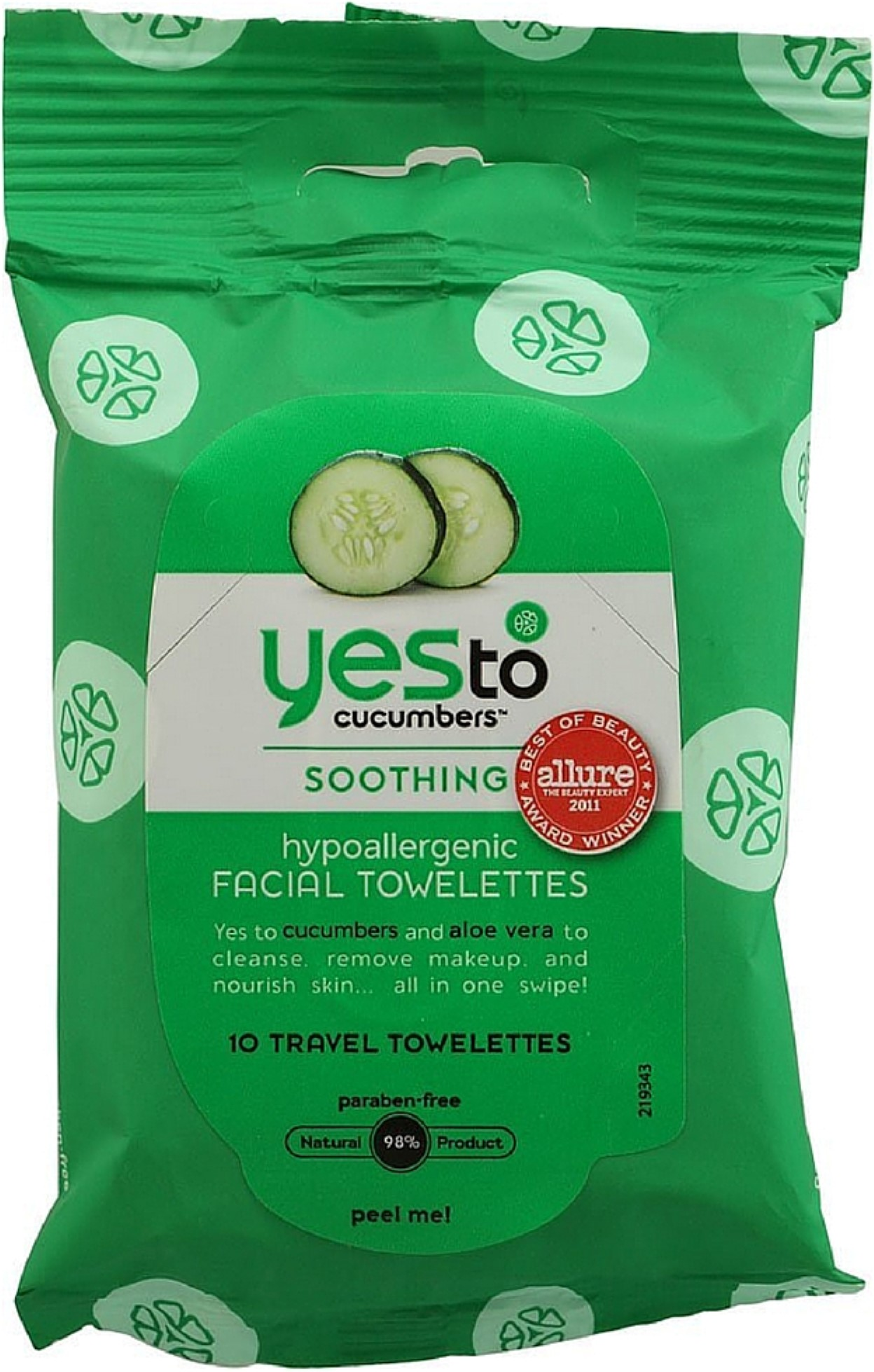 Yes To Cucumbers Soothing Hypoallergenic Facial Wipes, 10 ct (Pack of 4) Dor 24k Luxury Skincare Collagen Renewal Set
