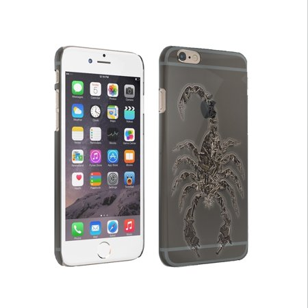 - KuzmarK iPhone 6 Plus Clear Cover Case - Scorpion Weapon Guns