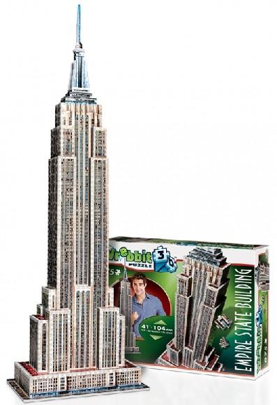 Wrebbit 3D: Empire State Building, USA Foam Puzzle (975pcs) by