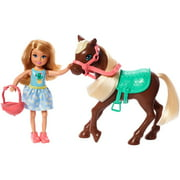 Barbie Club Chelsea Doll And Horse, 6-Inch Blonde, Wearing Fashion And Accessories