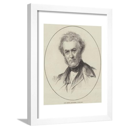 Lord Romilly, Late Master of the Rolls Framed Print Wall Art
