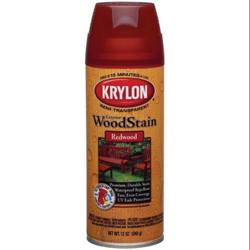 Exterior Wood Stain Aerosol Spray 12 Ounces-Redwood