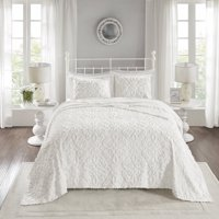Home Essence Amber 3 Piece Cotton Chenille Bedspread Set