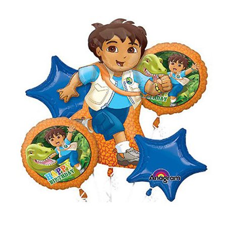Diego Character Authentic Licensed Theme Foil Balloon Bouquet - Go Diego Go Balloons