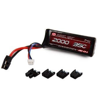 Venom Group International 35C 2S 2000mAh 7.4V LiPO Battery with Universal Plug Multi-Colored